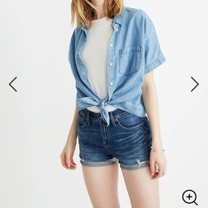 Madewell High-Rise Denim Shorts in Glenoaks Wash